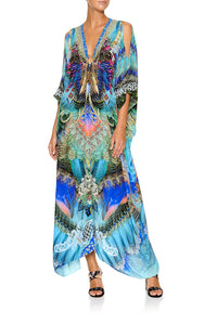 CAMILLA SPLIT SLEEVE KAFTAN WITH HARDWARE FREEDOM FLIGHT