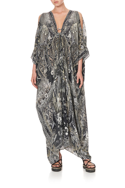 SPLIT SLEEVE KAFTAN WITH HARDWARE ONE TRIBE