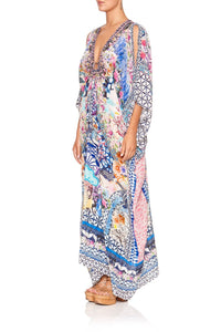 SPLIT SLEEVE KAFTAN WITH HARDWARE SHIBORI SHORES