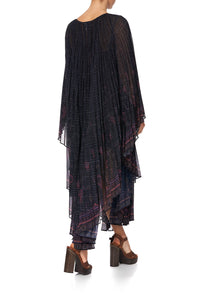 SUNRAY PLEATED KAFTAN MINA MINA