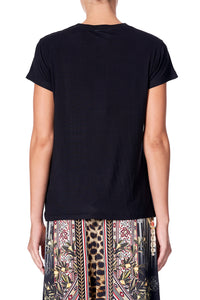 SLIM FIT ROUND NECK T-SHIRT MARAIS AT MIDNIGHT