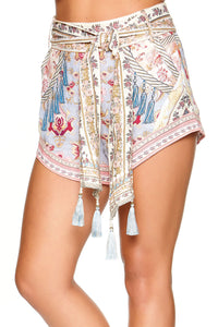 TIE DETAIL HIGH CUT SHORTS JEANNE QUEEN