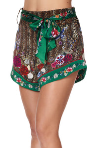 TIE DETAIL HIGH CUT SHORTS JEWEL OF JUPITER