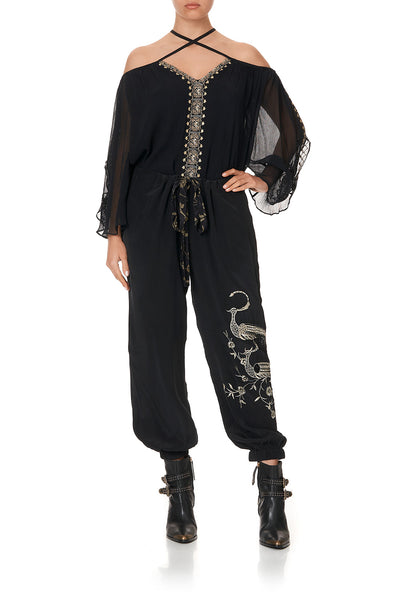 TIE FRONT HAREM PANT THE JEWELLED ARROW