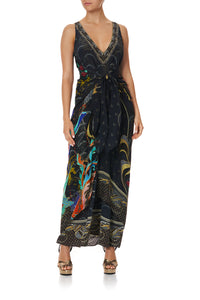 TIE FRONT MULTIWEAR DRESS WISE WINGS