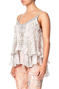DOUBLE LAYERED CAMI CRYSTAL CASTLE