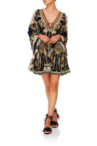 CAMILLA U-RING DRESS WITH KIMONO SLEEVE MIDNIGHT MEETING