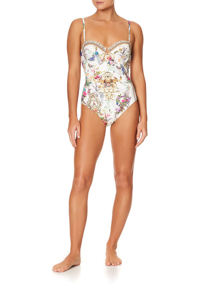 UNDERWIRE ONE PIECE WITH EYELET BACK BY THE MEADOW