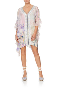 V-NECK KAFTAN WITH RUFFLE SLEEVE MERMAID MILLA