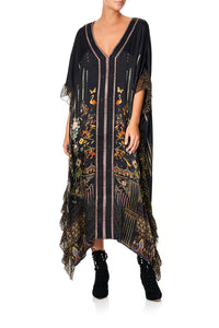 V-NECK KAFTAN WITH RUFFLE SLEEVE REBELLE REBELLE
