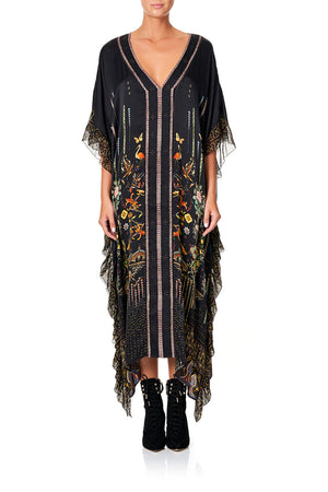 580b6b0ff5d V-NECK KAFTAN WITH RUFFLE SLEEVE REBELLE REBELLE V-NECK KAFTAN WITH RUFFLE  SLEEVEREBELLE REBELLE