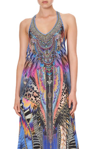 V NECK RACERBACK DRESS LOVE ON THE WING
