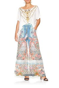 CAMILLA WIDE LEG DRAWSTRING WAIST PANT BLANCHES BLESSING