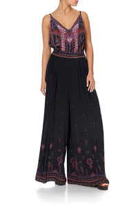 WIDE LEG PANT WITH GATHERED POCKETS MINA MINA