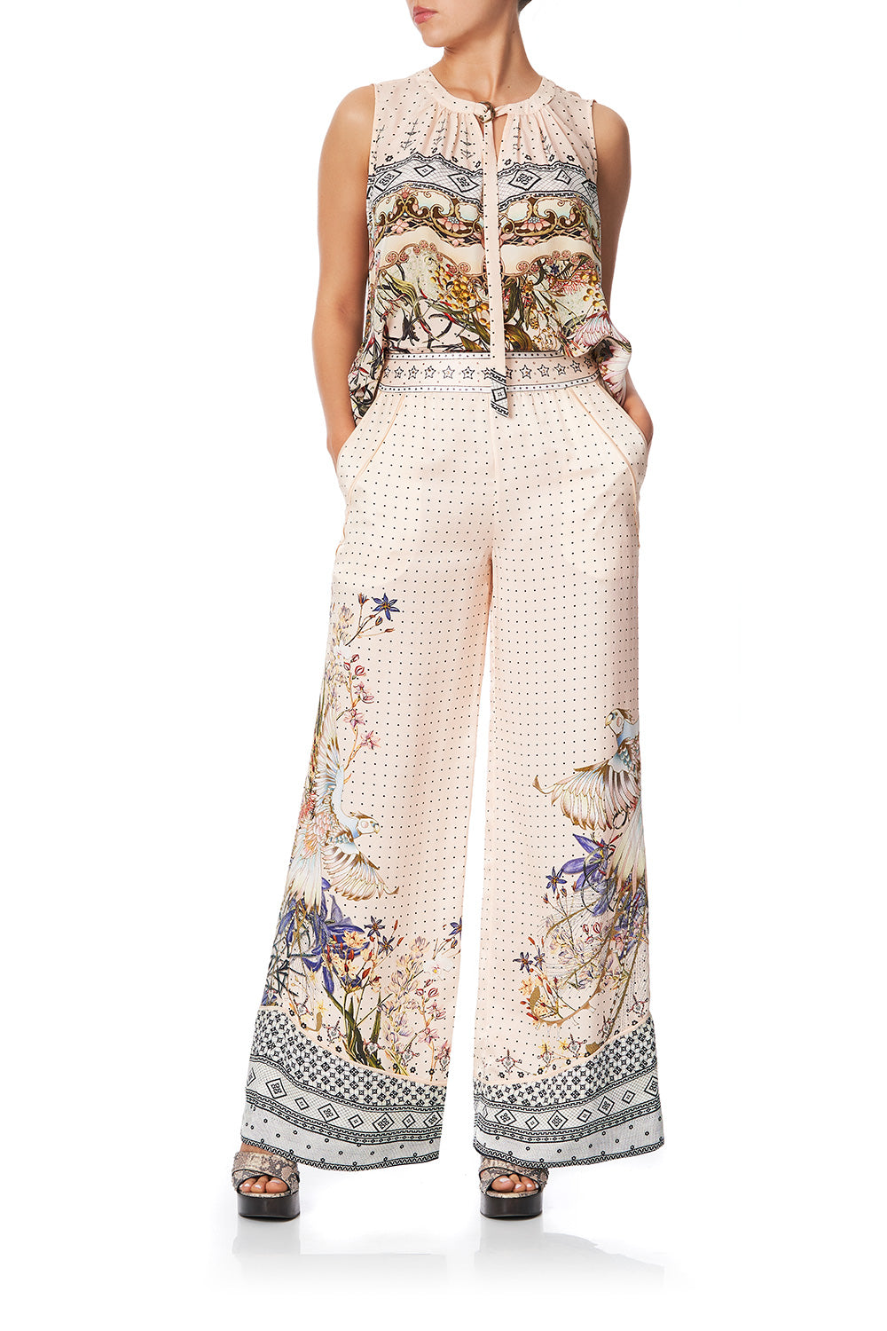 WIDE LEG PANT WITH SHAPED CUFF KINDRED SKIES