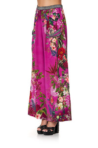 WIDE LEG TROUSER WITH FRONT POCKETS JUNGLE LANGUAGE