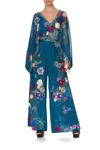 WIDE LEG TROUSER WITH FRONT POCKETS LUNAR GAZING