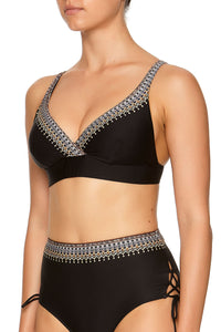 WRAP FRONT BRA BLACK