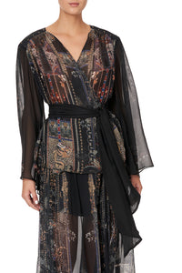 WRAP BLOUSE WITH YOKE SON OF SEVEN QUEENS