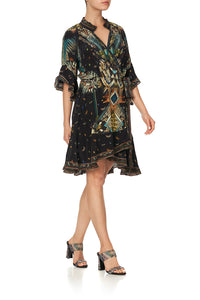 WRAP DRESS WITH RAGLAN SLEEVE MATERNAL INSTINCT
