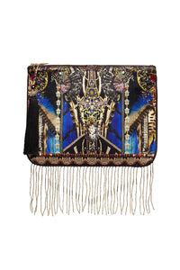 CAMILLA ZIP TOP CLUTCH STRONGER TOGETHER