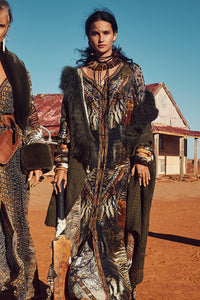 LACE UP DRESS WITH BLOUSON SLEEVE KAKADU CALLING