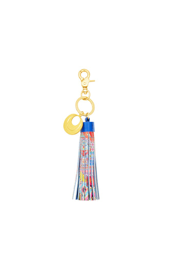 CLOSE TO MY HEART SHORT LEATHER TASSEL KEY RING