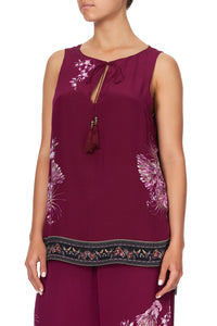 FRONT SPLIT TUNIC DESERT SUNRISE