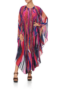 SUNRAY PLEATED KAFTAN FOLK RIVER