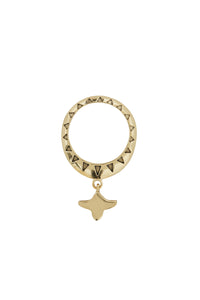 GOLD BRASS DROP MOTIF RING