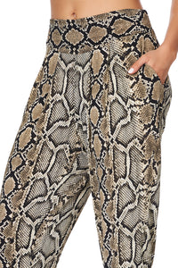 HAREM PANTS WITH FRONT PLEATS KAKADU BOO