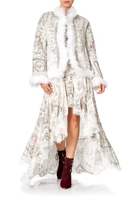 PUFFER JACKET WITH TRIM CRYSTAL CASTLE