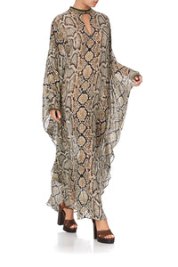 KAFTAN WITH HIGH COLLAR STAND KAKADU BOO