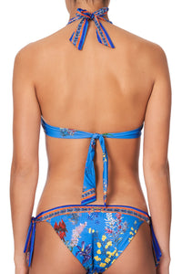 KNOT FRONT HALTER TOP SOUTHERN SPLENDOUR