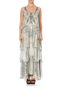 LAYERED FRILL LONG DRESS DAINTREE DREAMING