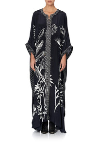 LONG LACE UP KAFTAN WITH EYELETS BOTANICAL BANDITS