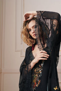 LAYERING ROBE WITH LACE INSERT REBELLE REBELLE