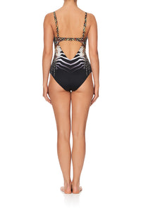V NECK UNDERWIRE ONE PIECE LOST PARADISE