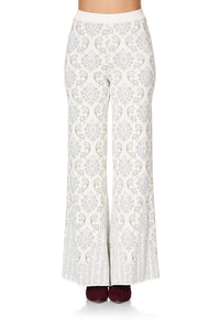FLARED KNIT PANT CRYSTAL CASTLE