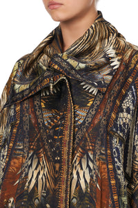 PARKA JACKET WITH RIB KAKADU CALLING