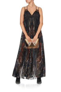 PLEATED JUMPSUIT WITH YOKE KAKADU CALLING