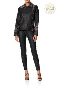 ELASTIC WAISTBAND LEATHER LEGGINGS HAUTE PROVINCIAL