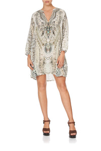 RAGLAN SLEEVE TUNIC DRESS DAINTREE DREAMING