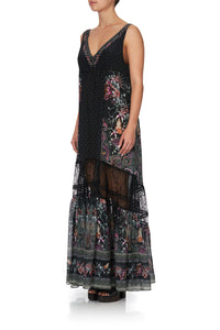 SPLICED MAXI DRESS RESTLESS NIGHTS