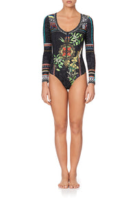 ROUND NECK ZIP FRONT PADDLESUIT BLACKHEATH BETTY