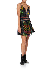 SHORT DRESS WITH SHAPED WAISTBAND BLACKHEATH BETTY