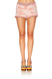 CONNECT THE DOTS ELASTIC WASIT SHORTS W FRILL