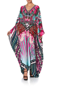 SPLIT HEM LACE UP KAFTAN RAINBOW EYES