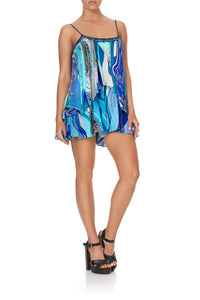 FLARED PLAYSUIT WITH OVERLAYER WATEGOS WANDERLUST
