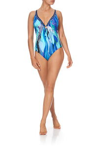 RING DETAIL PLUNGE ONE PIECE WATEGOS WANDERLUST